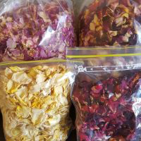 Rose petals available in single colours of red, pink, cream or mixed colours